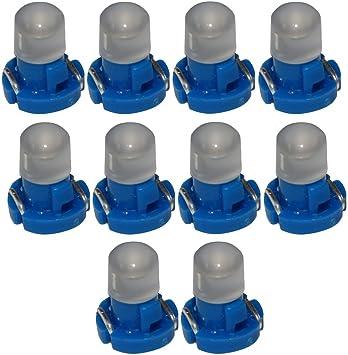 AERZETIX: 10 x Bombillas T3 LED 12V de salpicadero luz azul: Amazon.es: Coche y moto