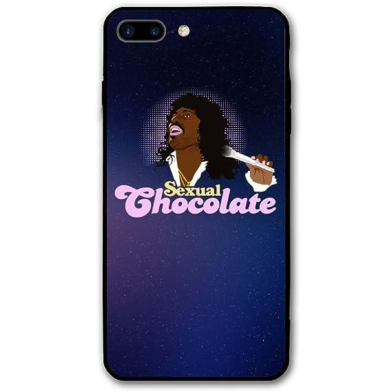 163ab942562315 Sexuelle Chocolat iPhone 8 Plus Coque, Coque pour iPhone 7 Plus, Paillettes  Liquide Bling