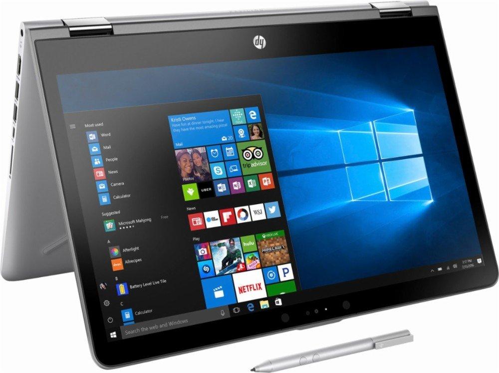 2018 HP High Performance 2-in-1 15.6-Inch Touchscreen Convertible Laptop with Stylus Pen, Intel Core i5-7200U Processor, 8GB RAM, 128GB HDD, WIFI, Bluetooth, HDMI, B&O PLA, Windows 10, Silver