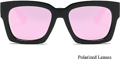 besbomig Gafas de Sol Mujeres Retro Vintage Gafas Cuadradas Cl/ásico Grandes Moda Gafas UV400 con Cadena de Metal Se/ñoras Disfraz Sunglasses