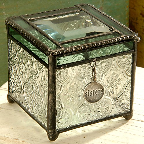 Vintage Glass Trinket Box - 4
