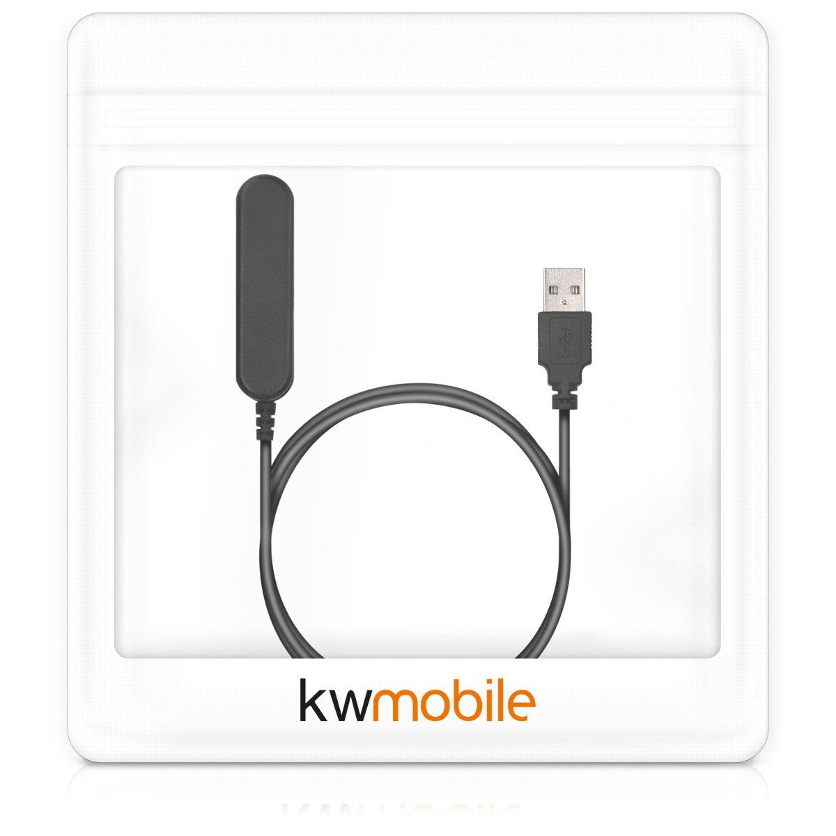 kwmobile Cable de Carga para Polar V800 - Conector USB Negro para Fitness Tracker y smartwatch
