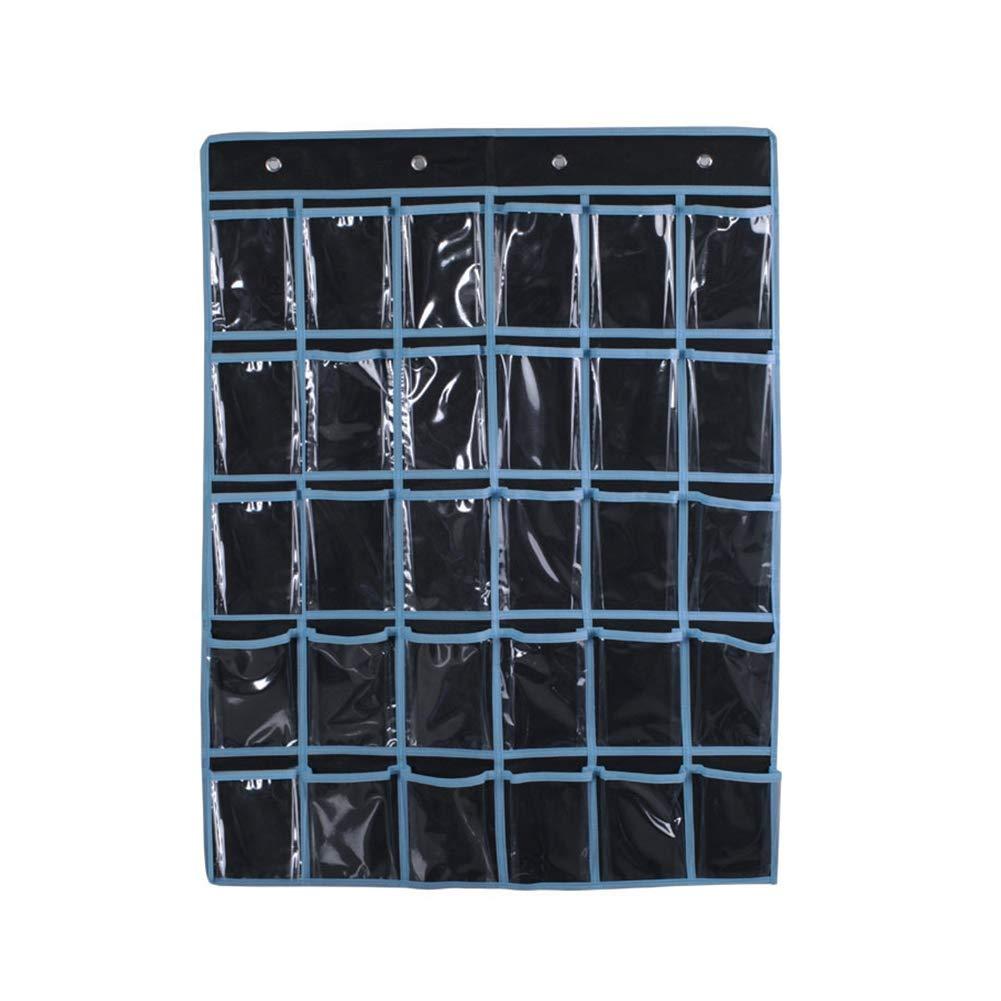 1pc classe Pocket Chart 30 T/él/éphones cellulaires support mural Sac porte suspendu Organisateur mur Carte de montage de finition pour les t/él/éphones cellulaires Cartes de visite Noir