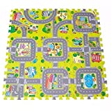 9Pcs 30x30cm Baby Play Mat, Soft Foam Puzzle Mat, Baby Crawling Mat, EVA Playing Game Floor Carpets, Children Playhouse Pad, IndoorExercise Floor Mats for,Interlocking Tiles Protective Flooring Mat