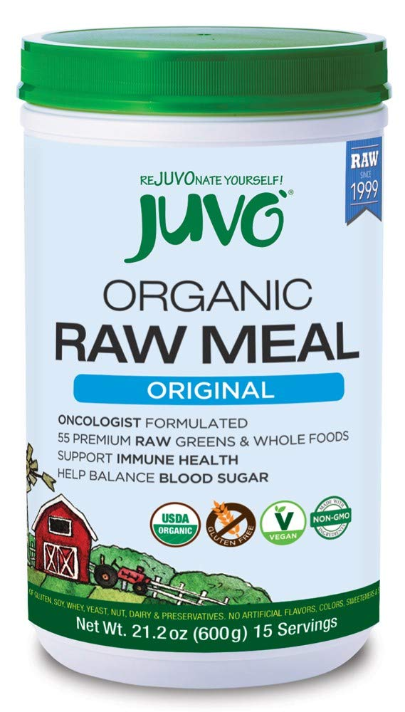 Juvo Organic Raw Meal, Original, 21.2 Oz, Vegan, Gluten Free, Non-Gmo, No Stevia, 5 Bil Cfu Probiotics, 9g of Fiber by Juvo