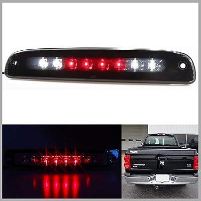 Sanzitop LED 3rd Brake Light Assembly Cargo Lamp Rear Tail Light Fit for 1997-2007 Dodge Dakota Replace 5056203AH 55056203AC, 55056203 (Black Housing Smoke Lens): Automotive