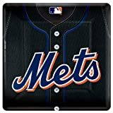 Amscan New York Mets - Square Banquet Dinner Plates Party Accessory