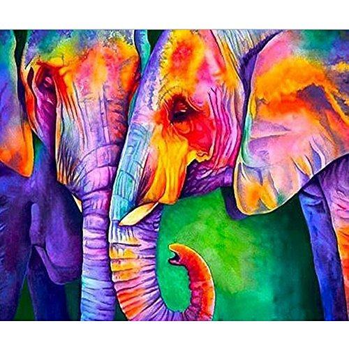 SWEETHOMEDECO Diamond Painting, Diamond Painting Kits for Adults, Diamond Painting Elephant, Painting with Diamonds, 15.7x19.6 Big Pattern 32 Colors Round Diamond