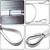 IBEUTES 250Pcs 304 Stainless Steel Rope Cable
