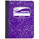 Mead Composition Book, Notebook, Wide Ruled, 9.75 x 7.5 Inch, Purple (72247)
