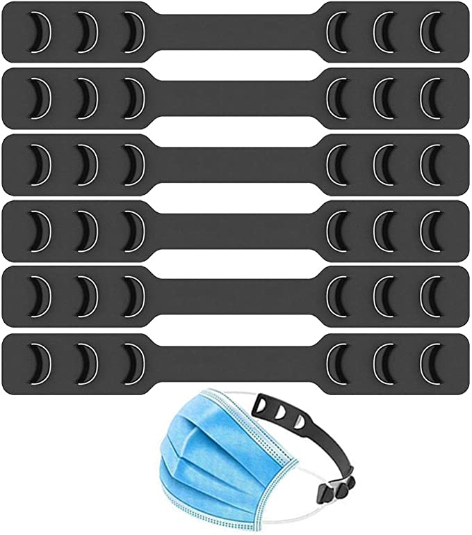 VoPee 4 Pack Adjustable Face Mask Lanyard Strap Extenders Ear Savers for Masks