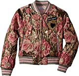 Dolce & Gabbana Kids Girl's Blouson (Little Kids) Gold Print 6