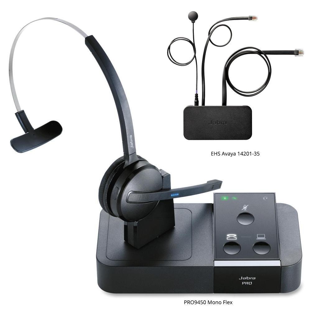 Amazon.com: Jabra PRO 9450 Mono Flex-Boom Wireless Headset for Deskphone  & Softphone: Electronics
