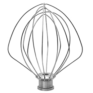 KITCHPOWER KN256WW 6-Wire Whip for 5 and 6 Quart Tilt-Head Stand Mixer for KitchenAid