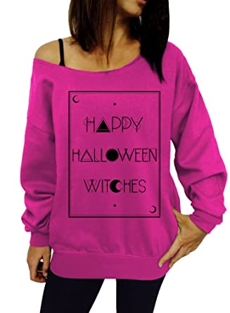 happy halloween witches tarot card slouchy sweatshirt small pink black ink