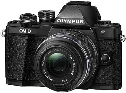 Olympus OM-D E-M10 Mark II Mirrorless Camera with 14-42mm II R Lens (Black)