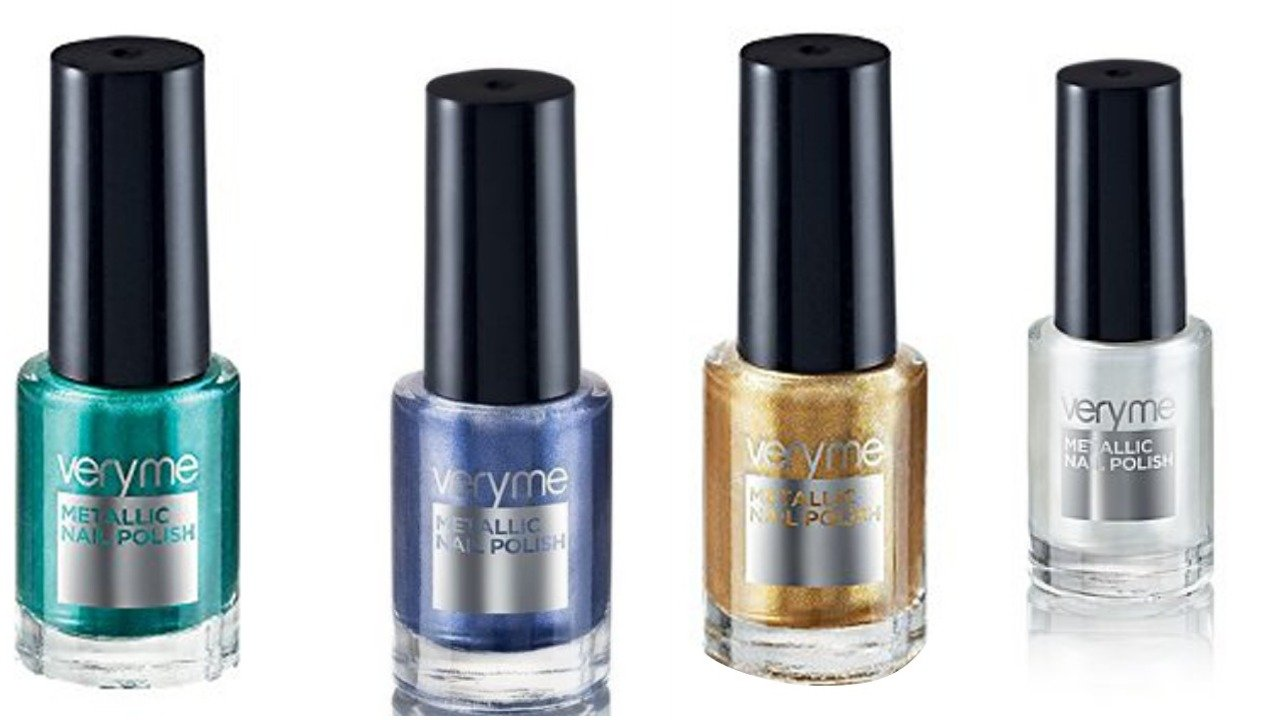 Buy Oriflame very me metallic nailpolish combo (Aqua green, Blue ...