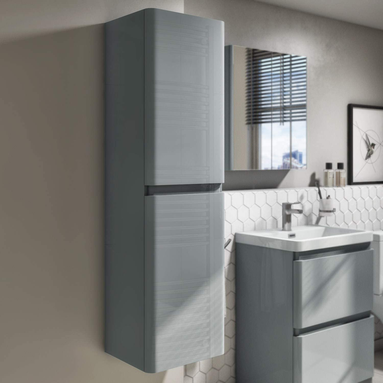 400mm Wall Hung Storage Unit Crisp Mist Curved Corner Cabinet Portland Range Amazon Co Uk Kitchen Home