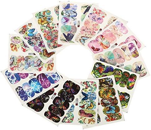 12 vellenset nagel sticker sticker manicure accessoire voor decoratie