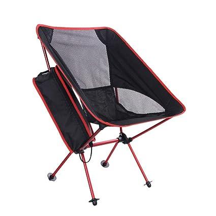 Silla Camping sillas Plegables Playa Ligeras Resistente y Plegable ...