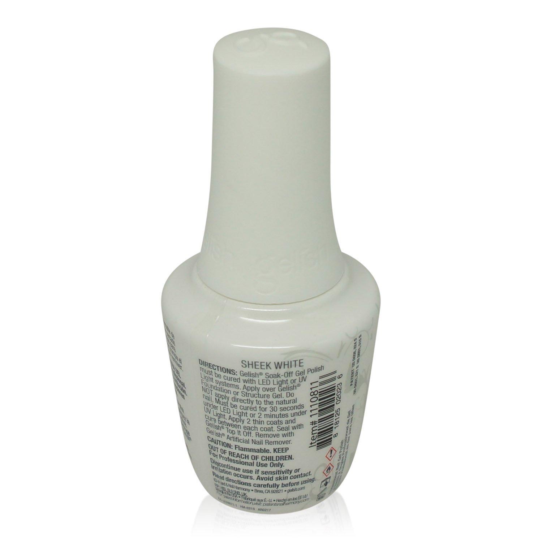 Amazon.com : Gelish Soak Off .5 oz Sheek White Gel Nail Color UV ...