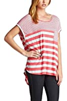 Cherish Women's Stripe Jersey Hi-Low Tunic Top