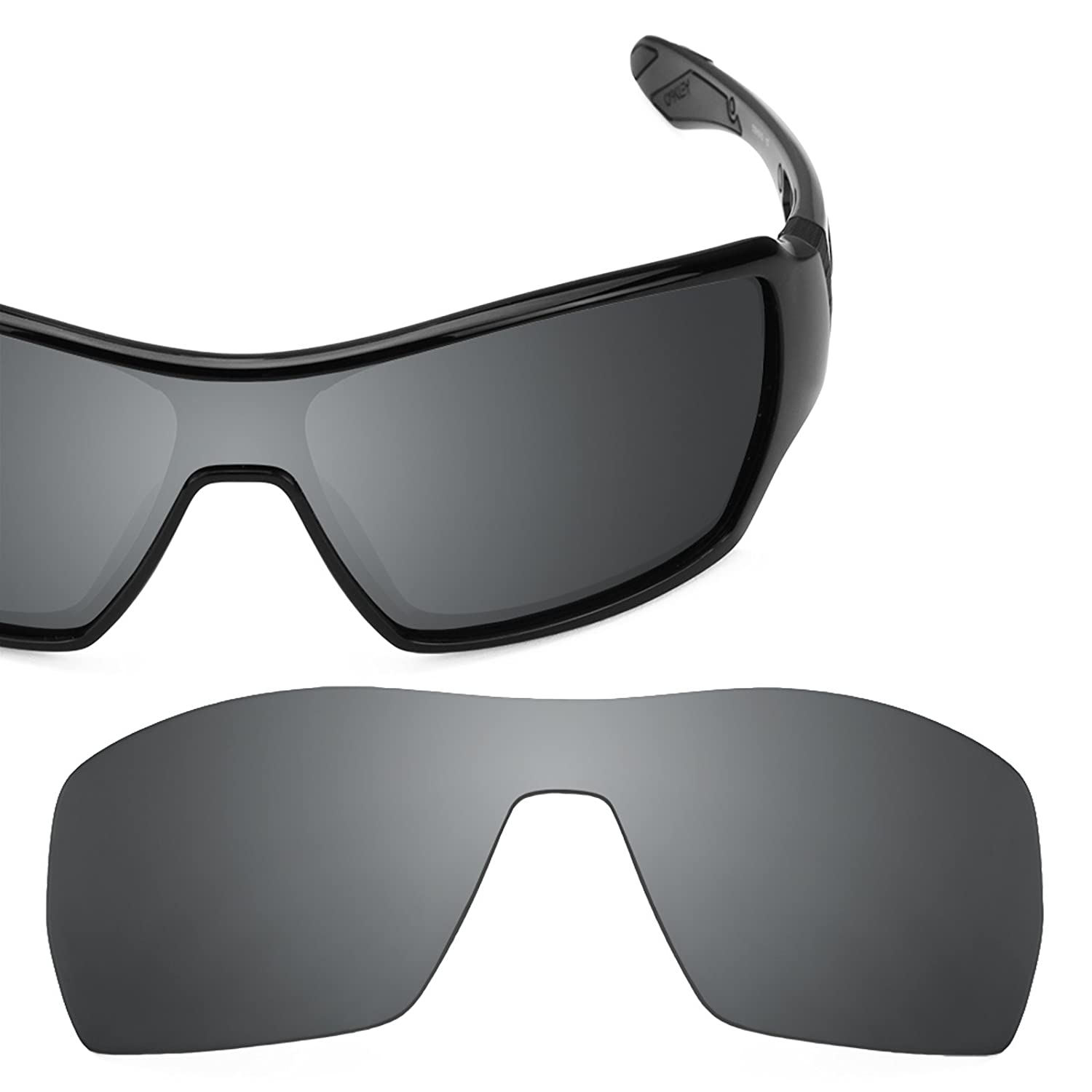 96e7af3400e7 Revant Polarized Replacement Lenses for Oakley Offshoot Black Chrome  MirrorShield at Amazon Men's Clothing store: