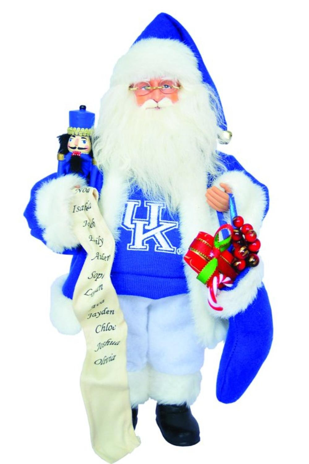 Amazon.com: NCAA Kentucky Wildcats Santa Claus Christmas Figure with ...