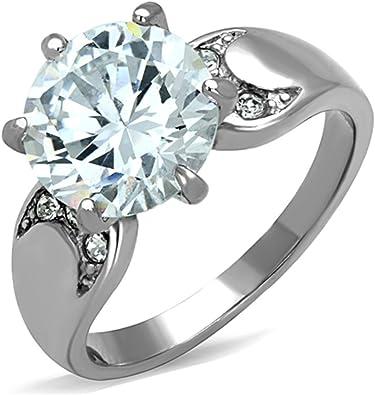 Amazon.com: Marimor Jewelry - Anillo de compromiso de acero ...