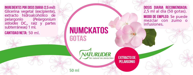 Naturlíder Numckatos Gotas Extracto de Pelargonium Sidoides para Aparato Respiratorio - 50 ml: Amazon.es: Salud y cuidado personal
