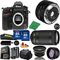 Great Value Bundle for D810 DSLR – 50MM 1.8D + 70-300MM AF-P + 2PCS 32GB Memory + Wide Angle + Telephoto Lens + Case