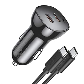 USB C Car Charger,CHOETECH 36W Fast Car Charger for iPhone 12/12 Pro Max/12 Mini,Dual 18W Type C PD Car Charger Adapter for iPhone 11 Pro Max/SE/XS/8,Galaxy S20/S10,Pixel 5/4/3 XL,iPad Pro,AirPods Pro