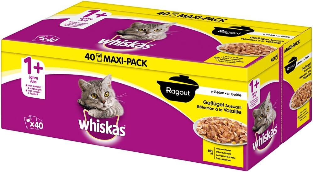 whiskas - Alimento húmedo para Gatos Adultos, envase múltiple ...