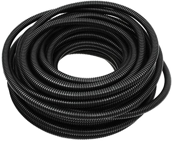 "100 FT EACH SIZE 1//4/"" 3//8/"" 1//2/"" NEW SPLIT LOOM POLYETHYLENE WIRE TUBING CABLE"