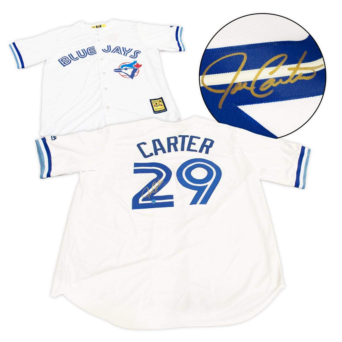 new styles c9b68 4a07b Joe Carter Autographed Jersey - 1993 Retro Cooperstown ...