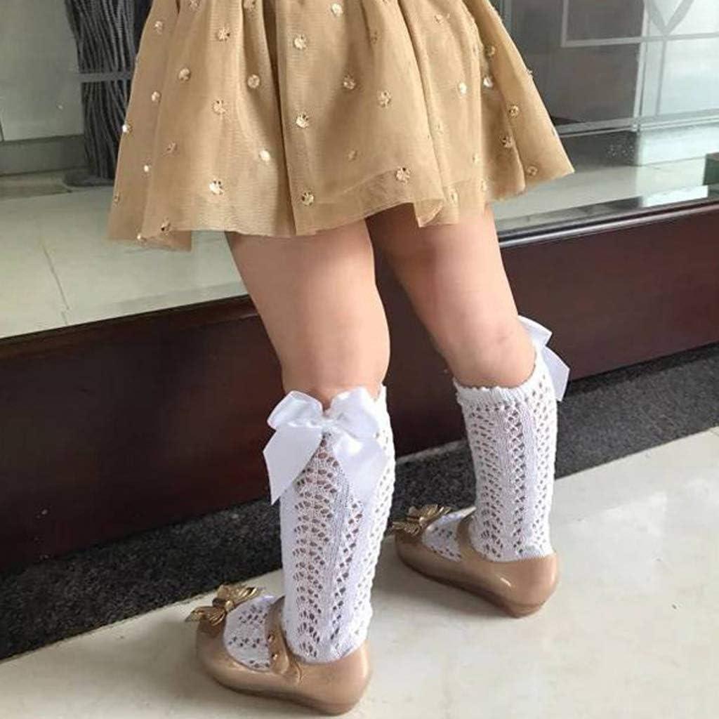 Girls Bowknot Baby Socks Summer Autumn Mesh Kids Infant Toddler Knee High Socks