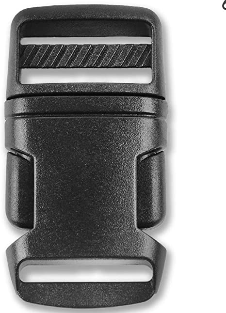 FOR WEBBING 10 x BLACK 25 mm PLASTIC SIDE RELEASE BUCKLES QUICK RELEASE