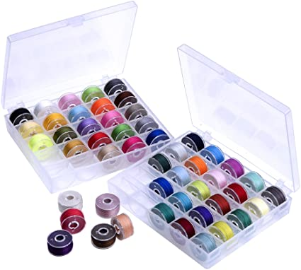Amazon.com: Outus Prewound Thread Bobbins with Bobbin Box for Brother/Babylock/Janome/Elna/Singer, Assorted Colors, 50 Pieces