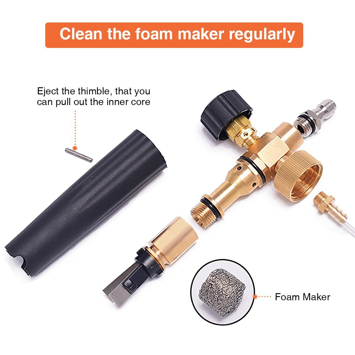 MATCC Adjustable Foam Cannon I Liter Bottle Snow Foam Lance With 1/4'' Quick Connector Foam Blaster for Pressure Washer Gun by MATCC (Image #5)