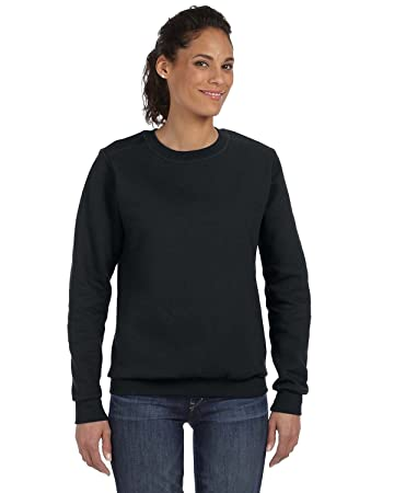 Amazon.com: Anvil womens Combed Ringspun Fashion Fleece Crew Neck ...