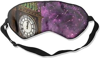 100% Silk Sleep Mask Eye Mask Big Ben Print Soft Eyeshade Blindfold With Adjustable Strap For Men Women And Kids For Sleeping Travel Work Naps Blocks Light E6 Wdskbg