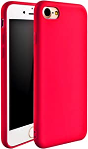 Compatible with with iPhone 7/8 Case, iPhone SE 2020 Case,iPhone 7 Case, iPhone 8 Case, iEugen [Ultra-Thin] & [Soft Touch] Premium TPU Protect Cover for iPhone 7/8 4.7 inch (red)