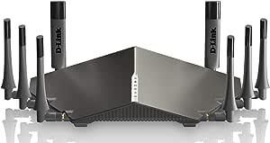 راوتر واي فاي فائق من دي-لينك AC5300 ثلاثي النطاق بتقنية ام يو ميمو DIR-895L بلون اسود