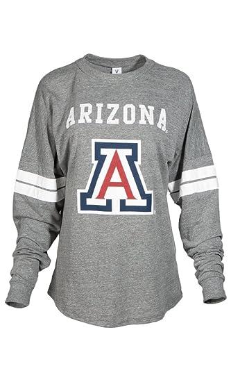 056dc647f NCAA Arizona Wildcats Betty Long Sleeve Tri-Blend Football Jersey T-Shirt,  Large