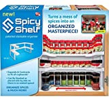 Spicy Shelf Patented Adjustable Spice Rack and Stackable Organizer (Small Image)