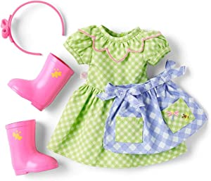 "American Girl WellieWishers Cute as a Bug Gardening Outfit for 14.5"" Dolls"