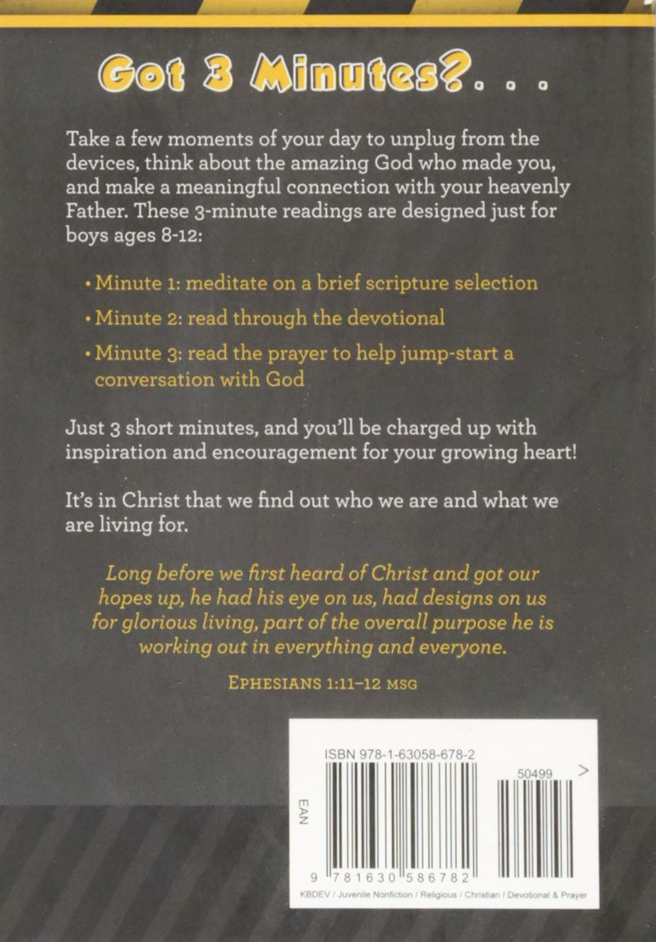 3-Minute Devotions for Boys: 90 Exciting Readings for Men Under  Construction: Glenn Hascall: 9781630586782: Amazon.com: Books