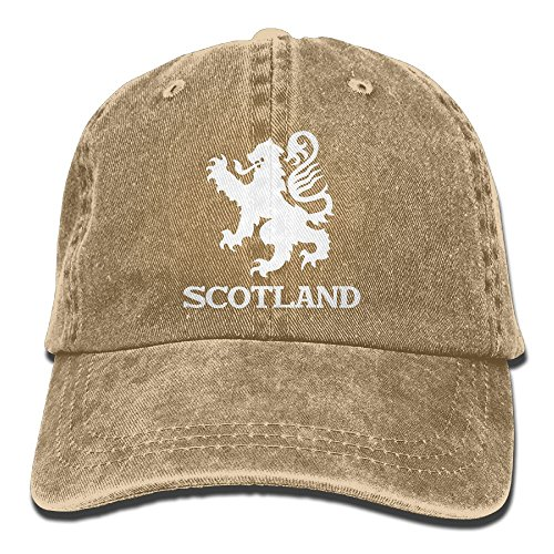 - Lion Rampant Scotland Scottish Washed Retro Adjustable Denim Hats Hiking Caps For Male Female
