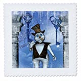 3dRose Heike Köhnen Design Holiday Christmas - Funny steampunk snowman - 25x25 inch quilt square (qs_266380_10)