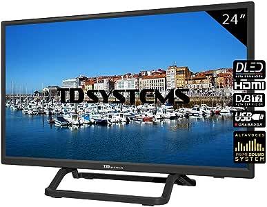 TD Systems Televisor HDMI, VGA, USB, 800 PCI Hz, Grabador Reproductor, DVB-T2/C/S2 Modo Hotel - K24DLX10H Negro 24 Pulgadas: Amazon.es: Electrónica